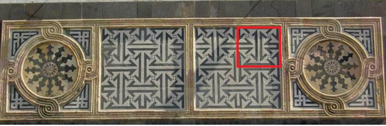 لوحة جدارية من جامع الثقفي في دمشق نشرها حاكم المصرف المركزي (فيس بوك)