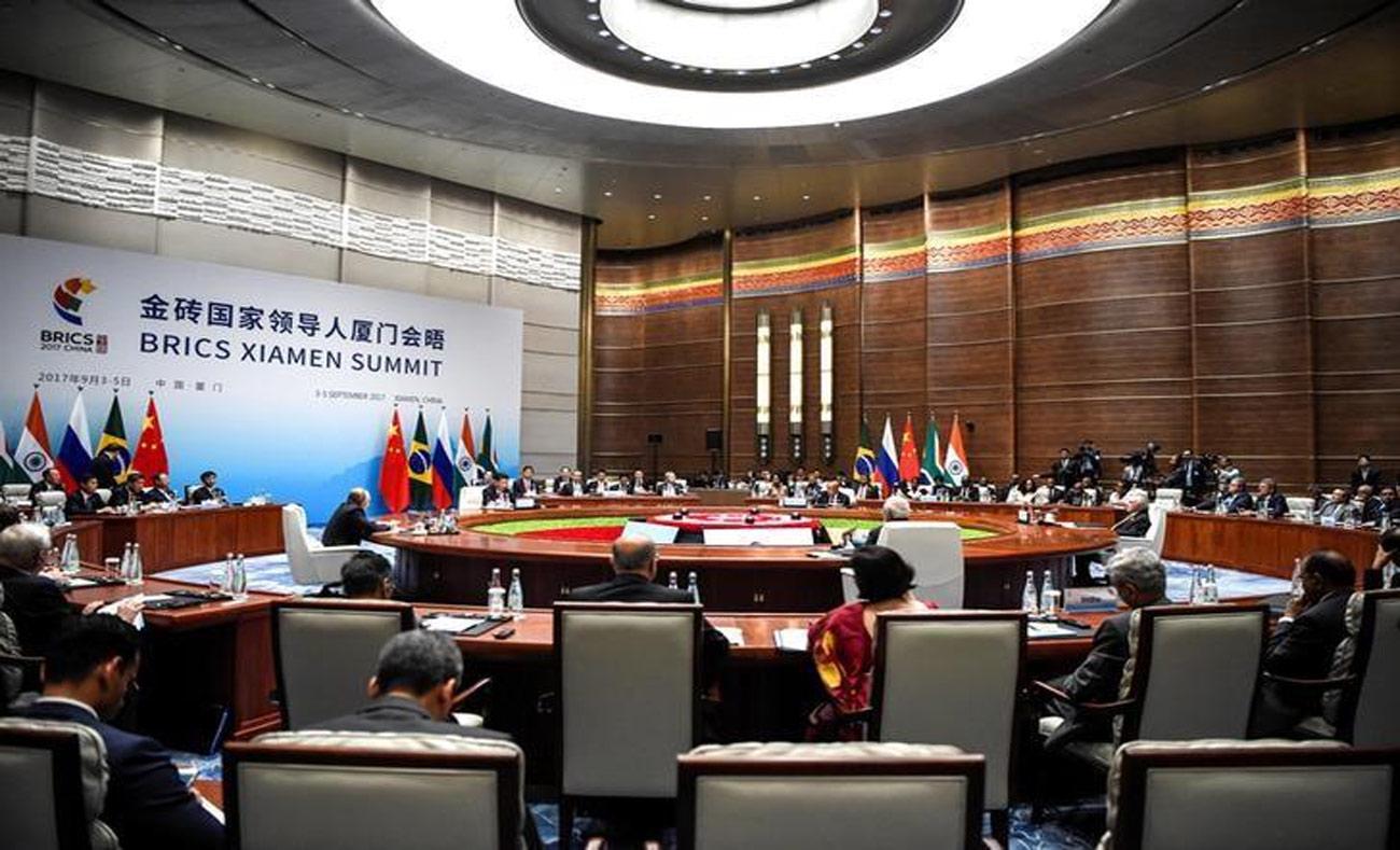قمة دول البريكس في الصين - 4 أيلول 2017 (ممثل وكالات الأنباء)