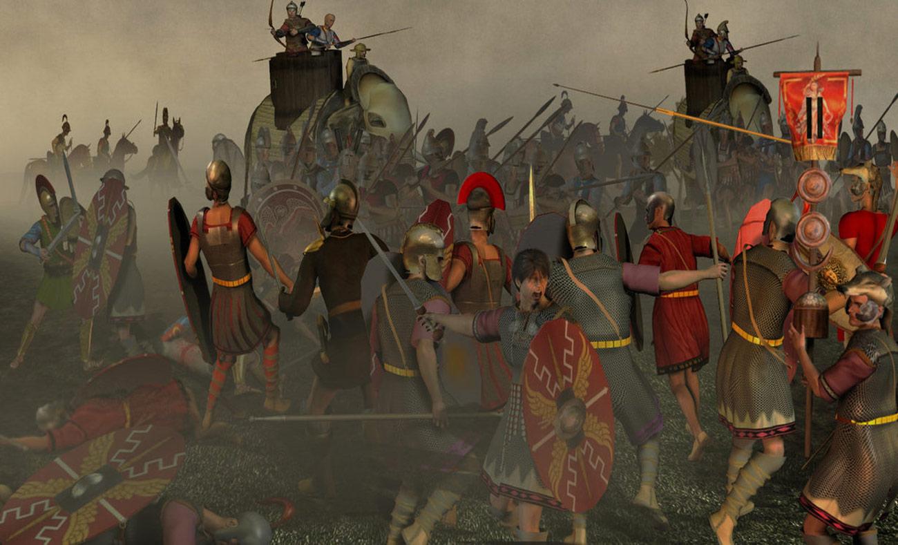 صورة تجسد معركة هيراقليا (انترنت)
