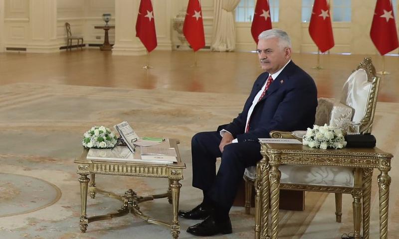 رئيس الوزراء التركي، بن علي يلدريم في أنقرة - 25 أيلول 2017 (TRT العربية)