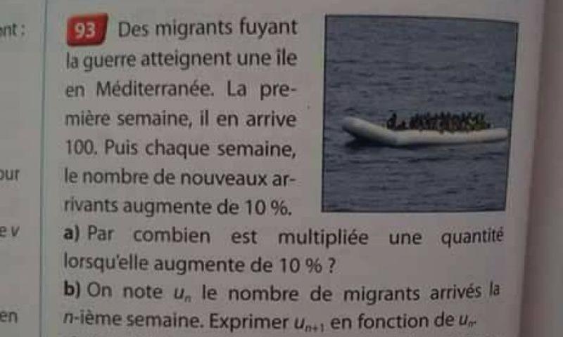 استخدام اللاجئين في تمرين حسابي بفرنسا - (انترنت)