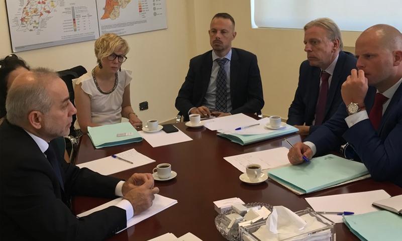 اجتماع وزير النازحين اللبناني بوزير الهجرة البلجيكي - 6 أيلول 2017 - (الوكالة الوطنية للإعلام)