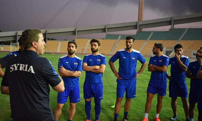من تدريبات المنتخب السوري في طهران استعدادًا للقاء إيران - 3 أيلول 2017 (فيس بوك)