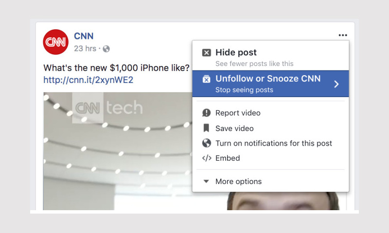 """صورة تظهر الميزة في """"فيس بوك"""" - أيلول 2017 (techcrunch)"""