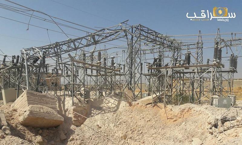 خروج محطة سراقب للكهرباء عن الخدمة - 22 أيلول 2017 (المكتب الإعلامي لسراقب وريفها)