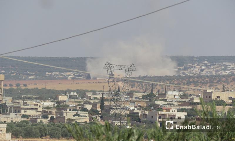 قصف على بلدات ريف إدلب الجنوبي - 20 أيلول 2017 (عنب بلدي)
