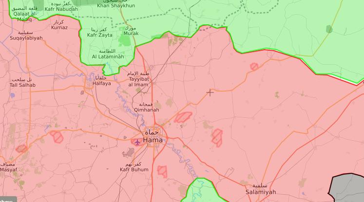 خريطة توضيحية لنفوذ القوى المسيطرة في ريف حماة الشمالي - 20 أيلول 2017 (livemap)