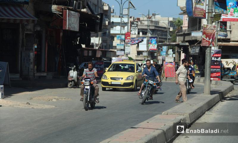 حركة السوق في مدينة إدلب في اليوم الحادي عشر من رمضان - 6 حزيران 2017