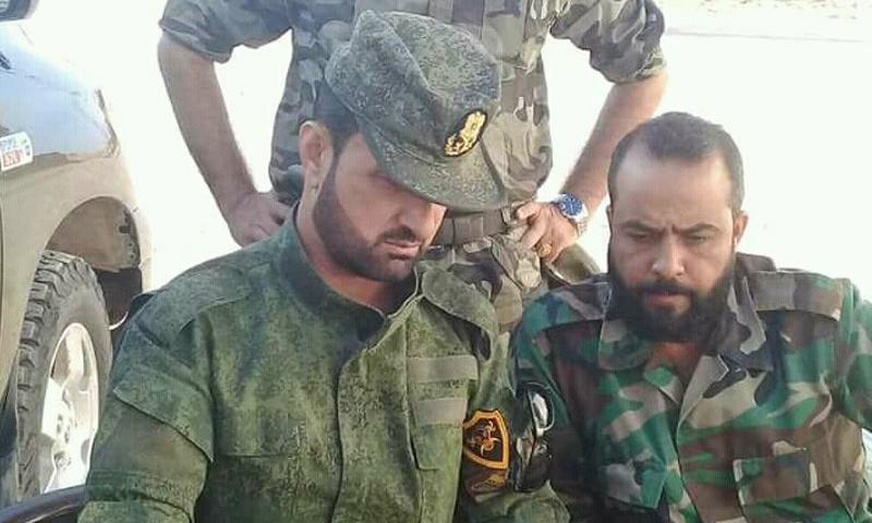 """العميد في جيش النظام السوري، سهيل الحسن، الملقب بـ""""النمر"""" - أيلول 2017 (صفحات موالية للنظام)"""