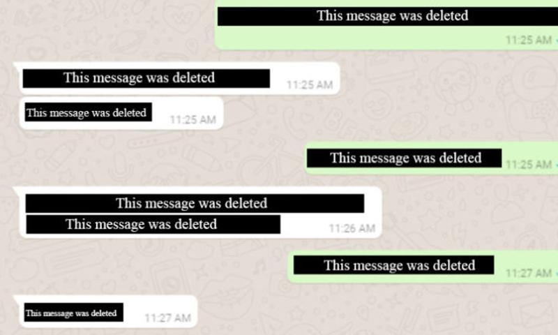 "ميزة حذف الرسائل في ""واتساب"" - (WABetaInfo)"