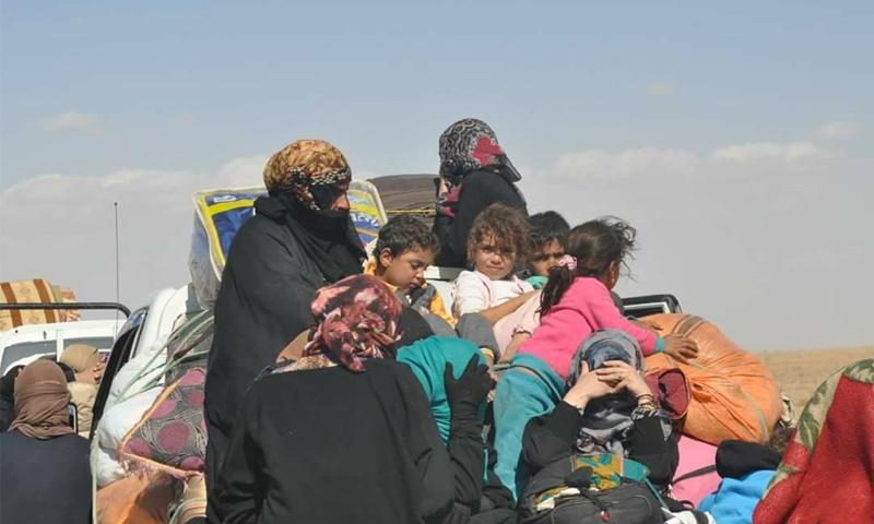 نازحون من محافظة دير الزور - 11 تشرين الأول 2017 (فرات بوست)