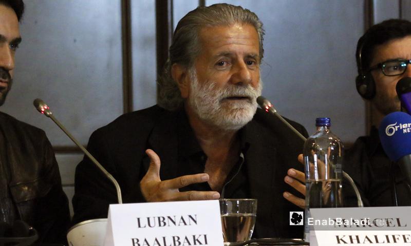 الفنان مارسيل خليفة في مؤتمر صحفي في إسطنبول - 5 أيلول 2017 (عنب بلدي)