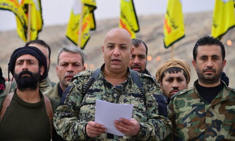 طلال سلو، المتحدث باسم قوات سوريا الديمقراطية (إنترنت)