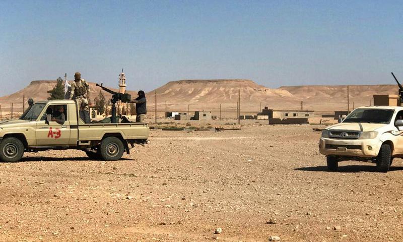 قوات جيش أسود الشرقية في منطقة العليانية بمنطقة البادية السورية - (أسود الشرقية)