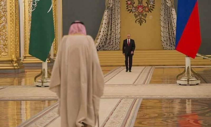 الملك سلمان بن عبد العزيز أثناء زيارته إلى روسيا - 7 تشرين الأول 2017 (فيس بوك)