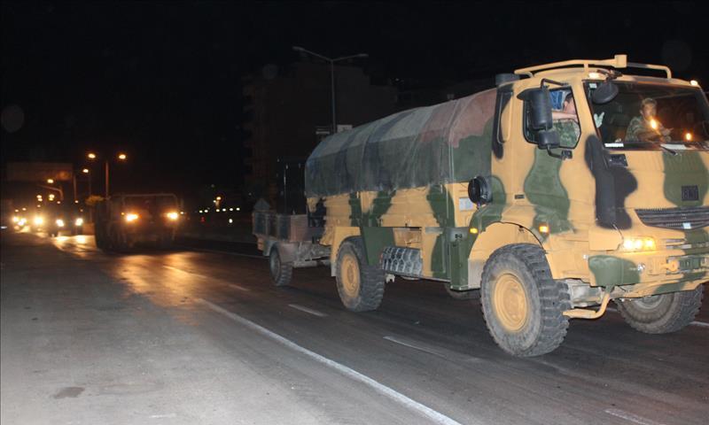 تعزيزات عسكرية تركية على الحدود السورية التركية - 13 تشرين الأول 2017 (الأناضول)
