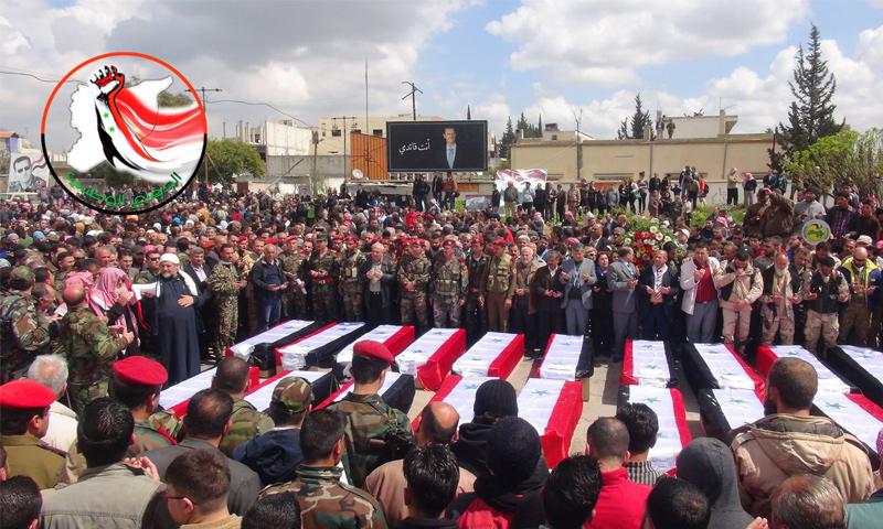 توابيت قتلى قوات الأسد في دير الزور تصل اللاذقية - 2 تشرين الأول 2017 (الدفاع الوطني)