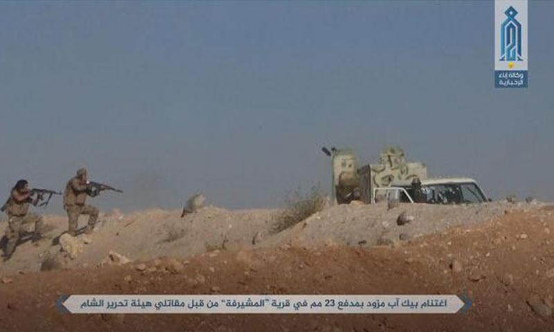 مقاتلون من تحرير الشام شرقي حماة - 7 تشرين الأول 2017 (وكالة إباء)