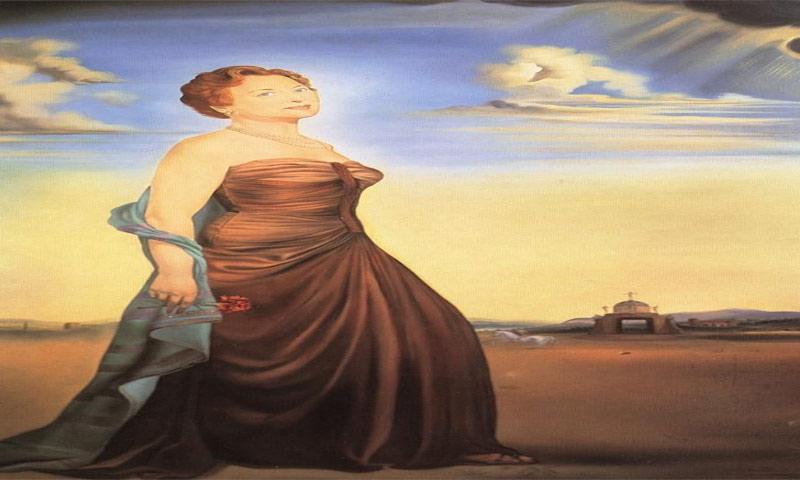 لوحة ليدي ريفز للفنان العالمي سلفادور دالي (انترنت)