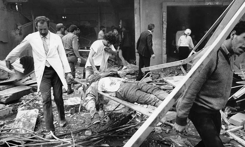 """تفجير مقر """"المارينز"""" في بيروت عام 1983 (انترنت)"""
