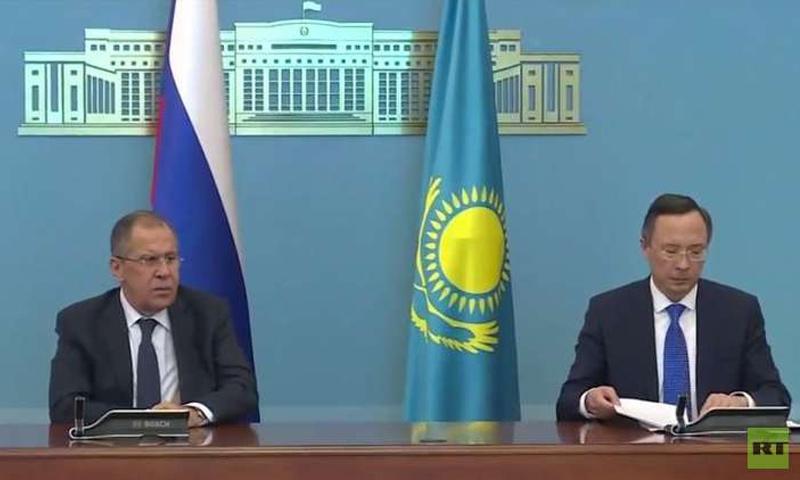 وزيرا الخارجية الكازاخي والروسي - 6 تشرين الأول 2017 (روسيا اليوم)