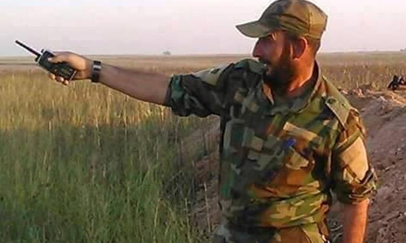 """قائد """"فوج الحيدرات"""" التابع لقوات """"النمر""""، عبد الرحمن المير (فيس بوك)"""