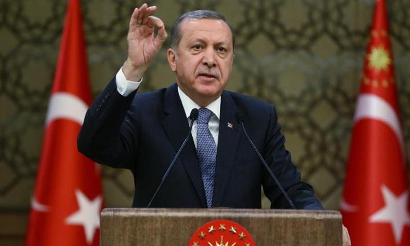 الرئيس التركي رجب طيب أردوغان (وكالات)