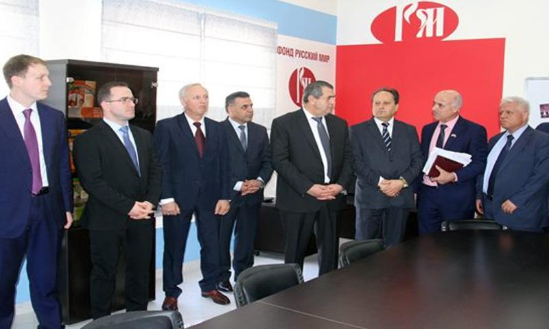 افتتاح مركز روسي في جامعة دمشق - 9 تشرين الأول 2017 (سانا)