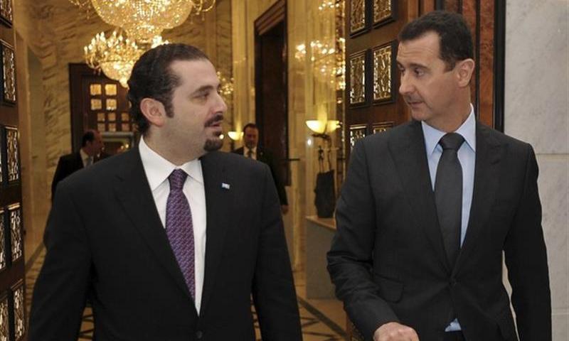 رئيس النظام السوري بشارالاسد ورئيس الحكومة اللبنانية سعد الحريري في 2009 (انترنت)