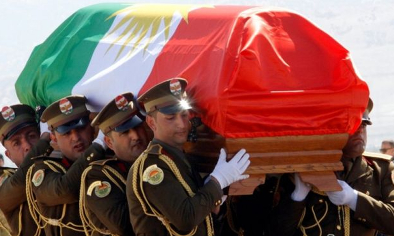 تشييع جثمان الرئيس العراقي الأسبق جلال طالباني - 6 تشرين الأول 2017 (رويترز)