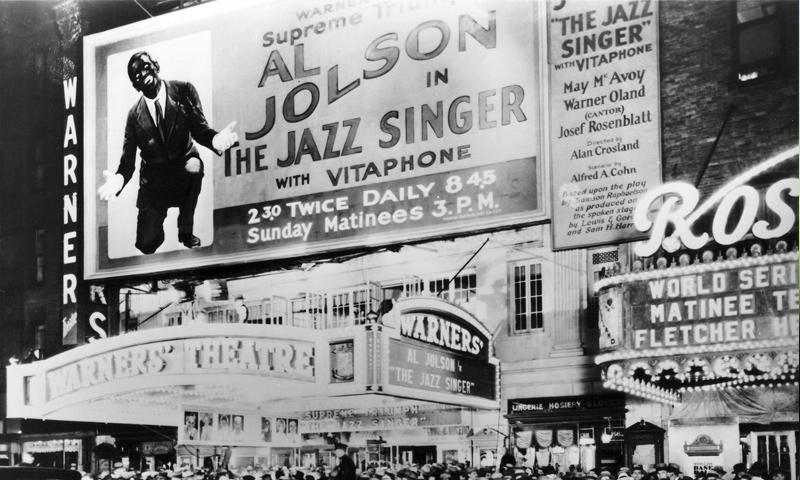 """إعلان لفيلم """"مغني الجاز"""" عام 1927 (theredlist)"""