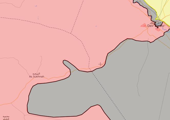 خريطة توضح نفوذ قوات الأسد غربي الفرات – 3 تشرين الأول 2017 (livemap)