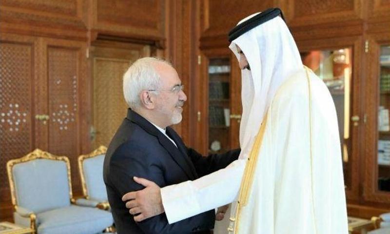 وزير خارجية إيران في زيارة إلى أمير قطر تميم بن حمد - 3 تشرين الأول 2017 - (ايرنا)