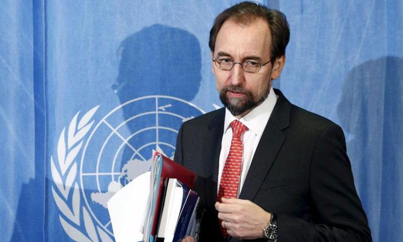 زيد رعد الحسين، مفوض الأمم المتحدة السامي لحقوق الإنسان