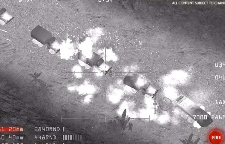 """صورة من لعبة """" ac 130 gunship simulator"""" (يويتوب)"""