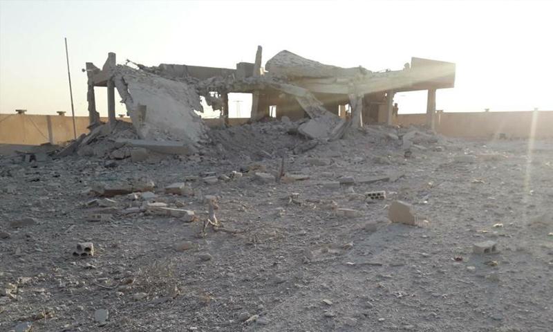 محطة سروج الكهربائية بعد تدميرها جراء الغارات الروسية - 7 تشرين الثاني 2017 (الناشط مناحي الأحمد)