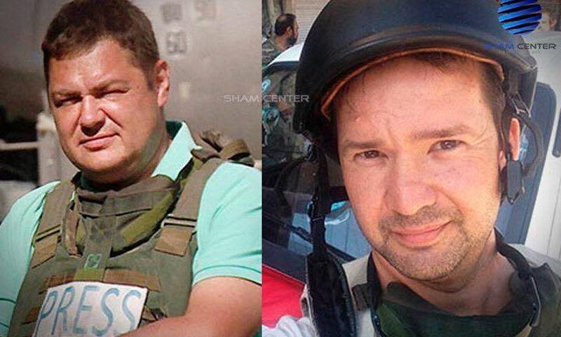 صحفيين روسيين أصيبوا في مدينة دير الزور - (انترنت)