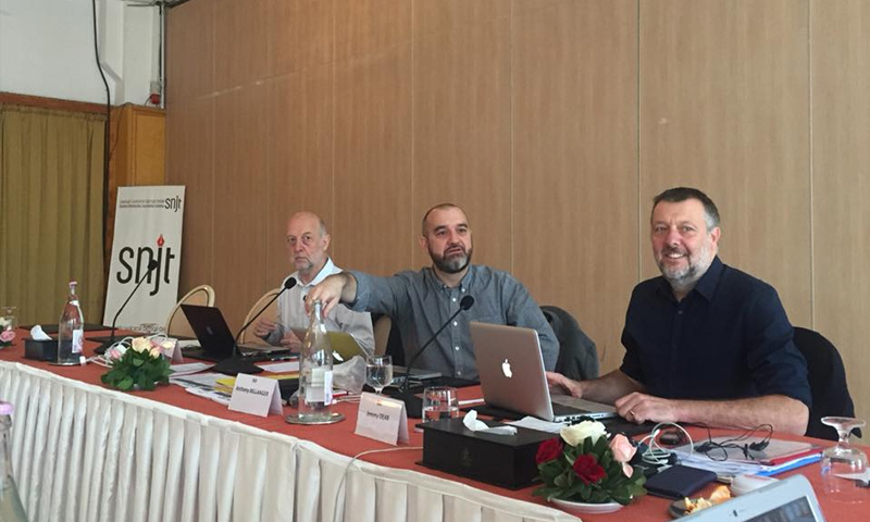 """من اجتماعات المكتب التنفيذي لـ""""الاتحاد الدولي للصحفيين"""" في تونس - 18 تشرين الثاني 2017 (IFJ)"""