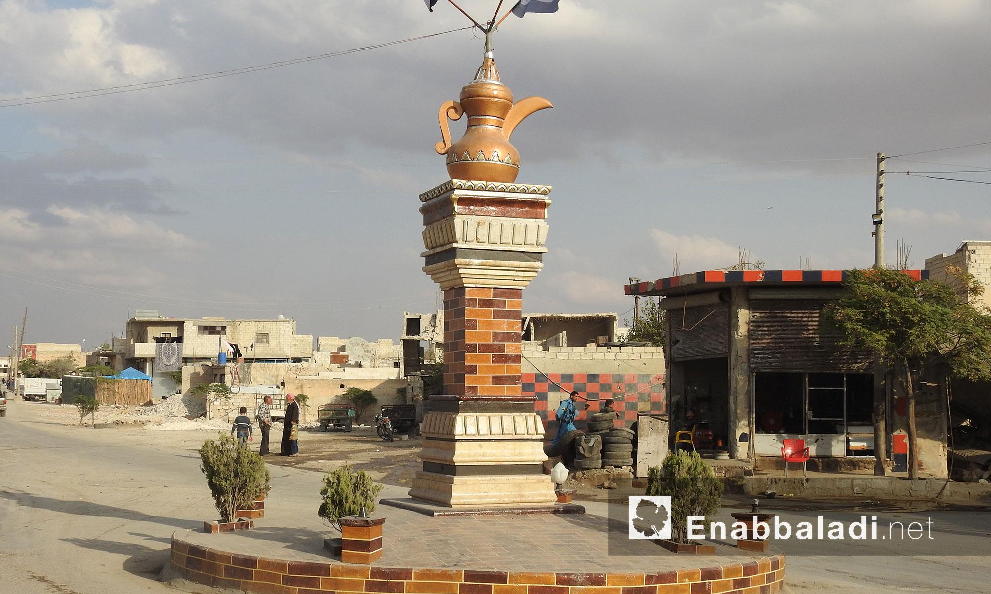 مدينة بزاعة بريف حلب الشرقي - 13 تشرين الثاني 2017 (عنب بلدي)