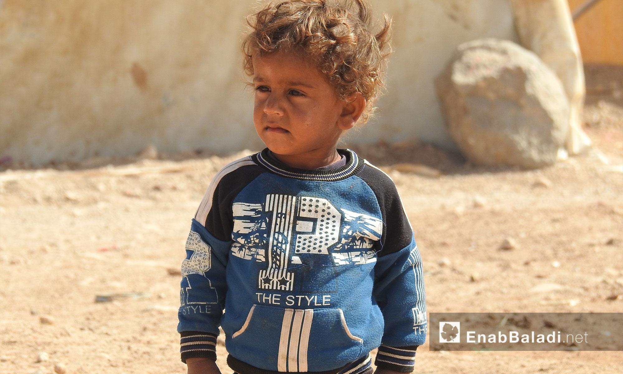 أطفال في مخيمات النزوح العشوائية - ريف حلب الشمالي - 8 تشرين الأول 2017 (عنب بلدي)