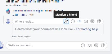 منشور يظهر الطريقة الجديدة للإشارة إلى الأصدقاء - 24 تشرين الثاني 2017 (thenextweb)