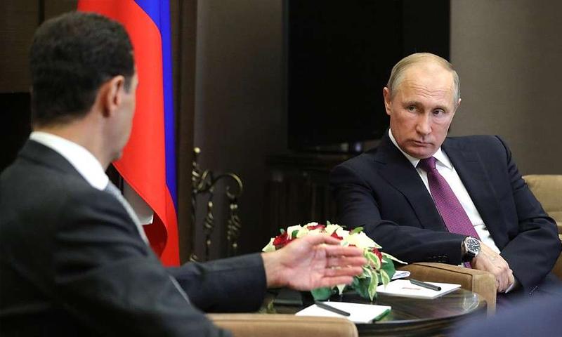 رئيس النظام السوري في زيارة إلى سوتشي الروسية – 20 تشرين الثاني 2017 (وكالات روسية)