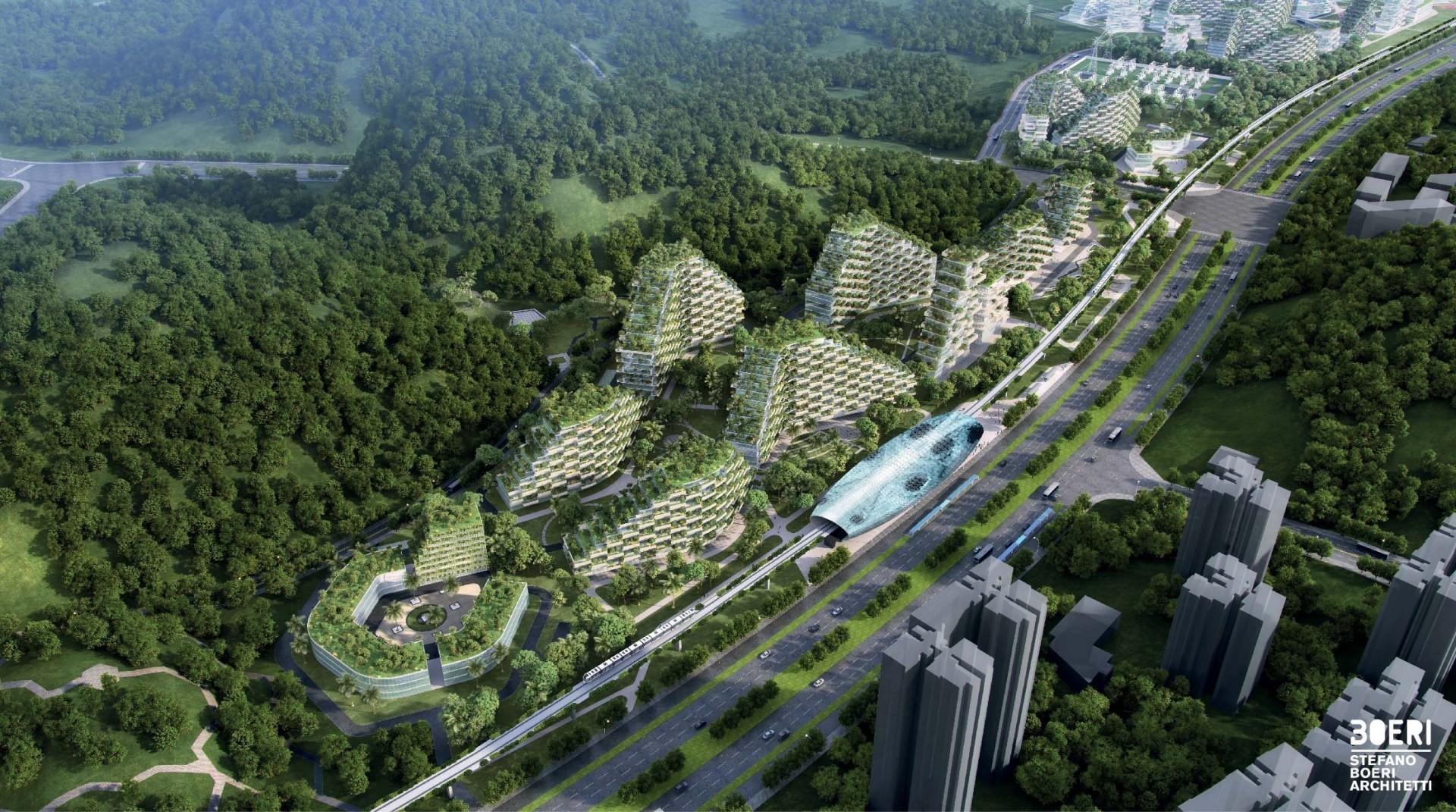 مشروع مدينة الغابة العامودية في الصين (Stefano Boeri Architetti)