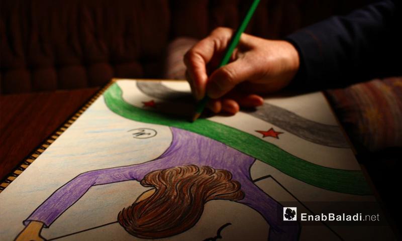 المدرسة ماجدة تعرض رسوماتها في الغوطة الشرقية - 28 تشرين الثاني 2017 (عنب بلدي)