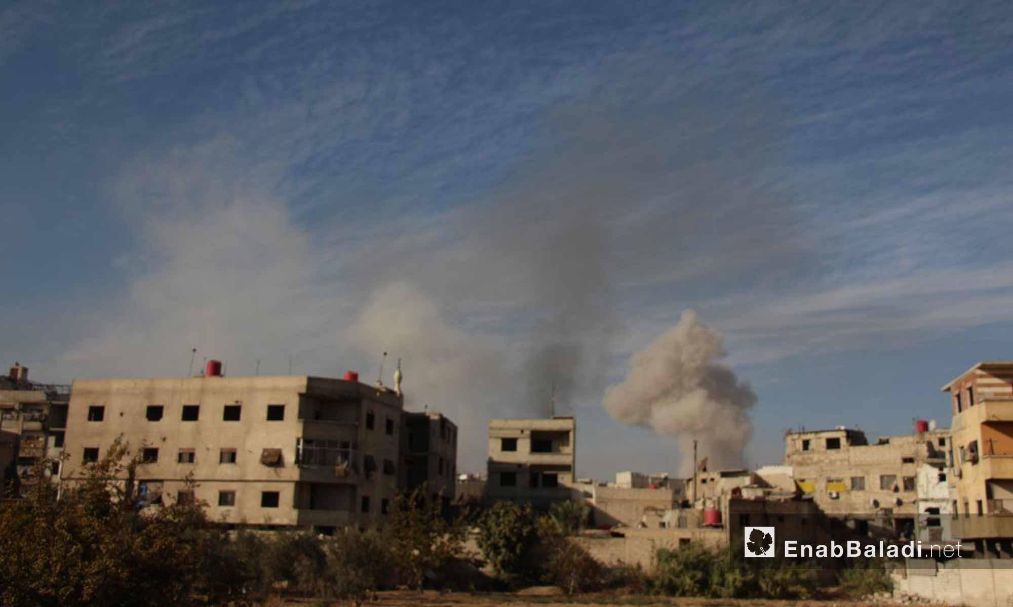 القصف على حرستا في الغوطة الشرقية - 16 تشرين الثاني 2017 (عنب بلدي)