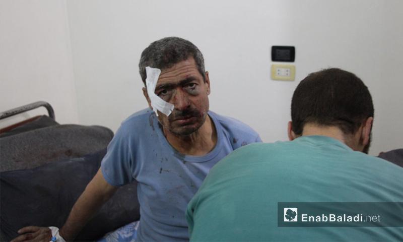 مصاب إثر القصف على حمورية في الغوطة الشرقية - 16 تشرين الثاني 2017 (عنب بلدي)