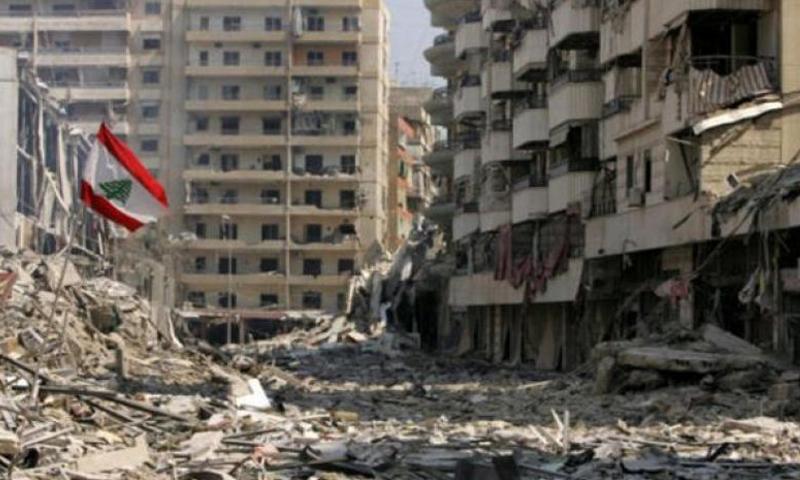 """آثار حرب تموز 2016 بين """"حزب الله"""" وإسرائيل (انترنت)"""