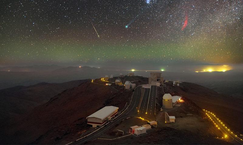 """مرصد """"لاسيلا"""" في تشيلي الذي اكتشف الوكب الجديد """"روس 128 بي"""" (انترنت)"""