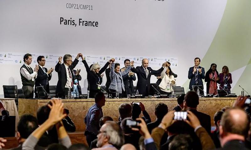 اتفاقية باريس للمناخ - كانون الأول 2015 (انترنت)