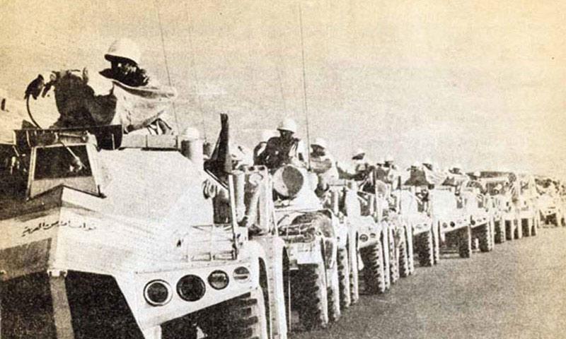 قوات الردع العربية تدخل بيروت- 1976 (انترنت)
